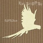 Чипборд Птица №1 Попугай летящий большой