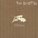 Чипборд Листья дуба с желудями большие