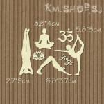 Чипборд Набор Йога