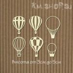 Чипборд Воздушные шары аэростат 6шт