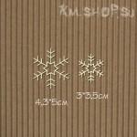 Чипборд Пара снежинок №4