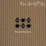 Чипборд Паук и божья коровка маленькие черные