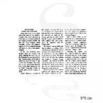 Штамп Газетный текст горизонтальный мал