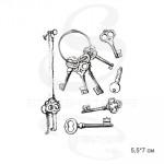 Штамп Набор винтажных ключей